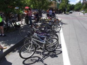 Bike racks at the Elk Restaurant, Browne's Addition, Spokane, WA