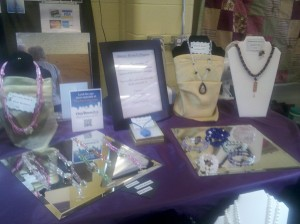 Still Waters Jewelry display at Spokane Public Market