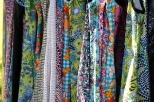 Close-up of Nuu-Muu and Ruu-Muu fabrics