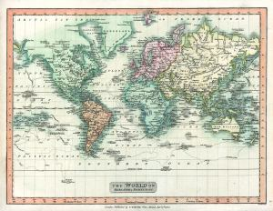 World map from 1808